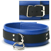 BONDAGE GEAR BLUE LEATHER COLLAR