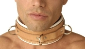 BONDAGE GEAR STRICT LEATHER PADDED HOSPITAL RESTRAINT COLLAR