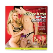 MENAGE A TROIS FOR TWO HARNESS WITH DILDO