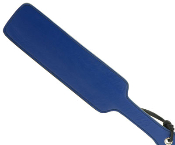 BLACK AND BLUE LEATHER FRATERNITY PADDLE