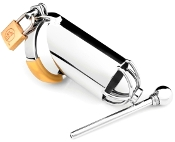 CHASTITY DEVICES THE IMPALER TUBE STAINLESS STEEL CHASTITY TUBE