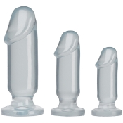 CRYSTAL JELLIES ANAL STARTER KIT CLEAR DILDOS