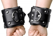 DELUXE LOCKING WIDE PADDED BONDAGE CUFFS