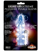 LIGHT UP EXTREME PLEASURE PEARLS SLEEVE BLUE