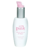 PINK SILICONE LUBE 1.7 OZ PLASTIC BOTTLE