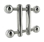TWIN SCREWS NIPPLE PRESS BONDAGE TOYS