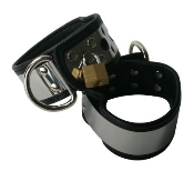 BONDAGE GEAR LINED METAL BAND CUFFS