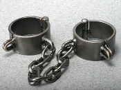 BONDAGE GEAR STEEL MANACLES AND SHACKLES