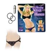 Vibrating Velvet Harness