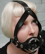 TRAINER BALL GAG WITH DILDO RING BONDAGE TOY HARNESS
