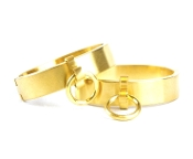 BONDAGE GEAR GOLD BRUSHED CUFFS BONDAGE TOYS