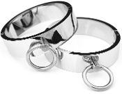 BONDAGE GEAR CHROME BONDAGE CUFFS