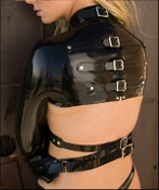LATEX BOLERO STRAITJACKET BONDAGE GEAR