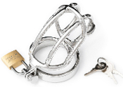 CHASTITY DEVICES THE TEASER STAINLESS STEEL CHASTITY CAGE