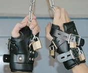 BONDAGE GEAR STRICT LEATHER PREMIUM SUSPENSION WRIST CUFFS