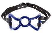 EXTREME RUBBER COATED SPIDER GAG BONDAGE GEAR BLUE
