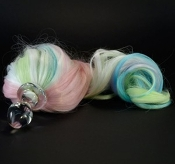 PASTEL FIVE COLOR DETACHABLE PONY TAIL BUTT PLUG